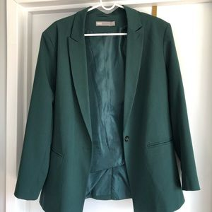 Over-sized green blazer